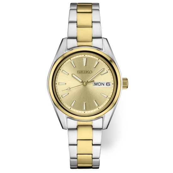 Picture of Seiko Ladies' Essential Two-Tone Watch with Champagne Dial