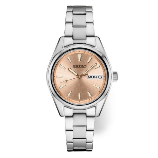 Picture of Seiko Ladies' Essential Stainless Steel Watch with Peach Dial