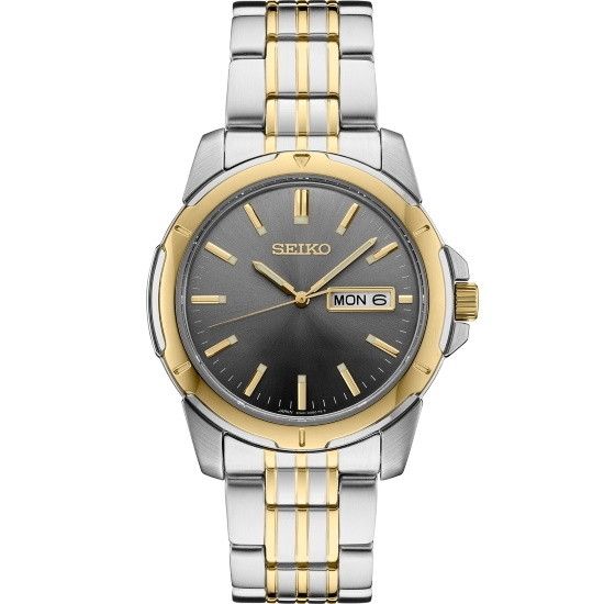 Picture of Seiko Men's Essential Two-Tone Watch with Gray Dial