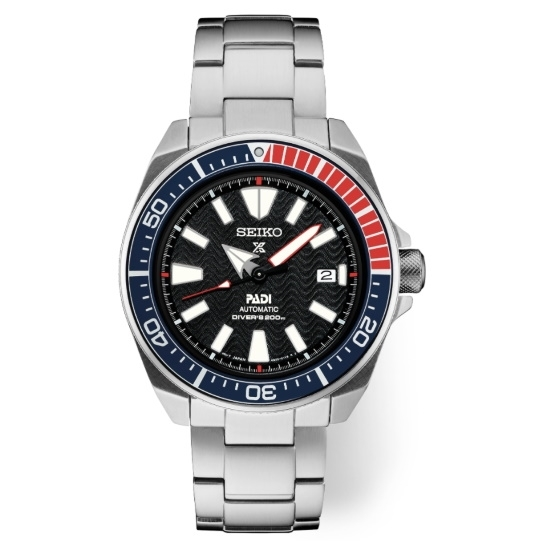 Picture of Seiko Men's Prospex PADI Diver Steel Watch with Black Dial