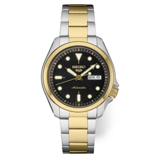 Picture of Seiko Seiko 5 Sports Two-Tone Watch with Black Dial