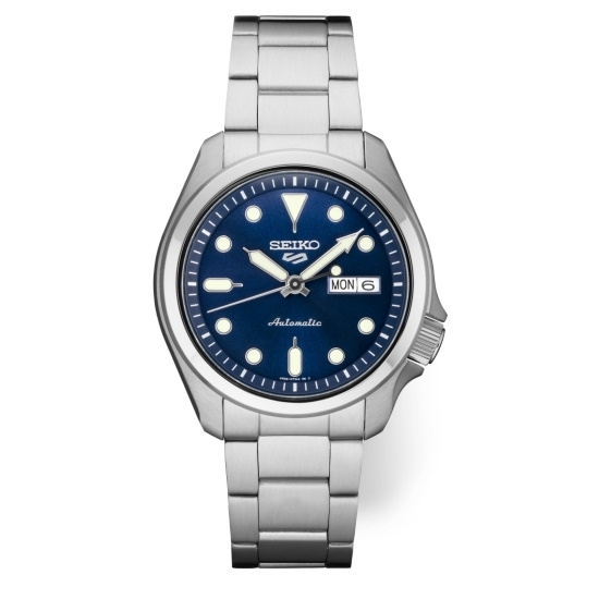 Picture of Seiko Seiko 5 Sports Stainless Steel Watch with Blue Dial
