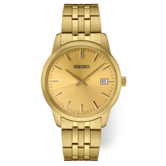 Picture of Seiko Men's Essential Gold-Tone Watch with Champagne Dial