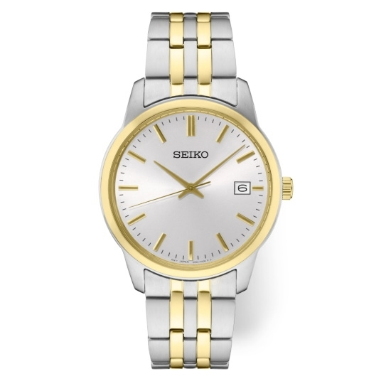 Picture of Seiko Men's Essential Two-Tone Watch with White Dial