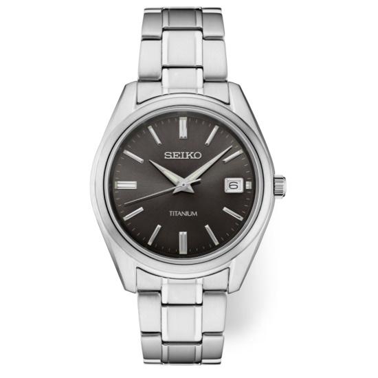 Picture of Seiko Men's Essential Titanium Watch with Black Dial