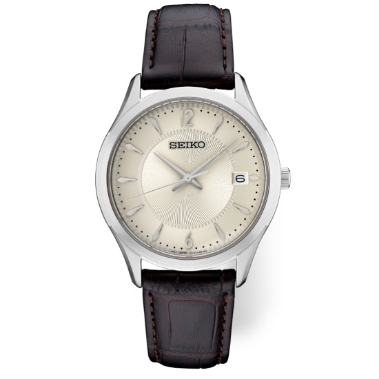 Picture of Seiko Men's Essential Stainless Steel Watch with Cream Dial