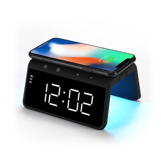 Picture of RCA Wireless Charging Alarm Clock with Multicolor Nightlight