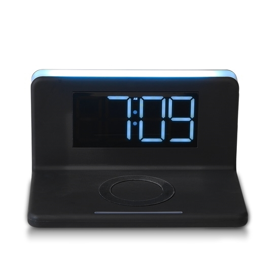 Picture of RCA Wireless Charging Alarm Clock with Nightlight