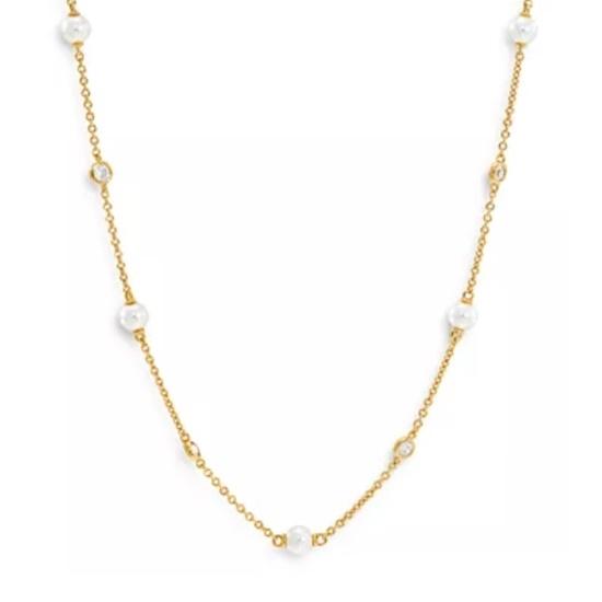Picture of Nadri Emilia Pearl Station Necklace - Gold