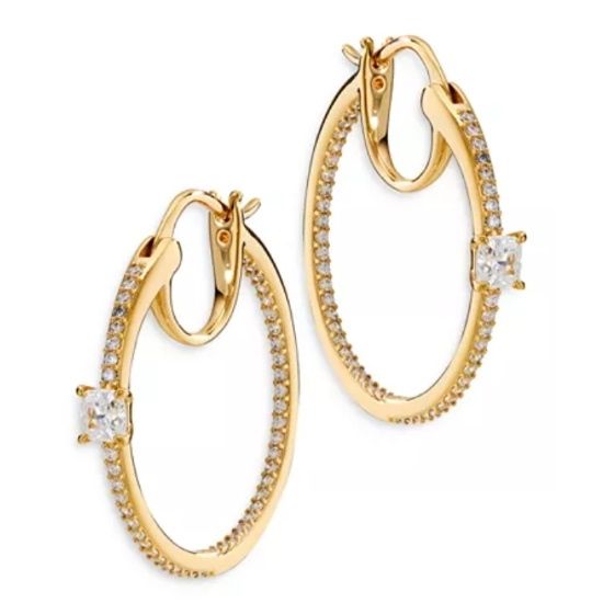 Picture of Nadri Emilia Hoop Earrings - Gold