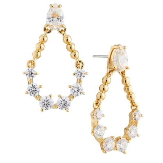 Picture of Nadri Mini Chandelier Earrings - Gold