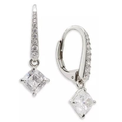 Picture of Nadri Colette Drop Earrings - Rhodium