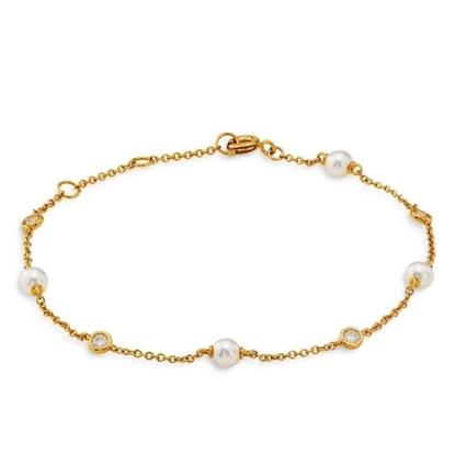 Picture of Nadri Emilia Pearl Line Bracelet - Gold