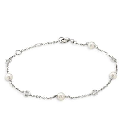 Picture of Nadri Emilia Pearl Line Bracelet - Rhodium