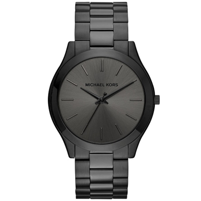 Picture of Michael Kors Slim Runway Black-Tone Stainless Steel Watch