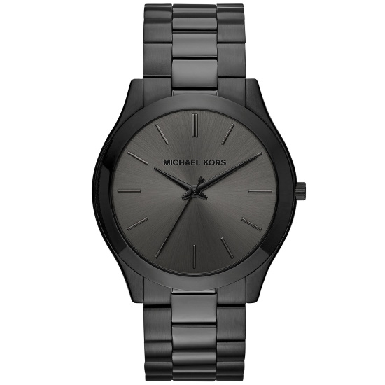 Picture of Michael Kors Slim Runway Black-Tone Stainless Steel Watch