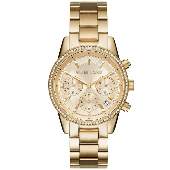 Picture of Michael Kors Ritz Chronograph Gold-Tone Stainless Steel Watch