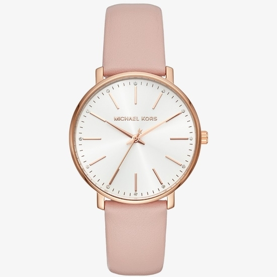 Picture of Michael Kors Pyper Rose Gold-Tone & Leather Watch