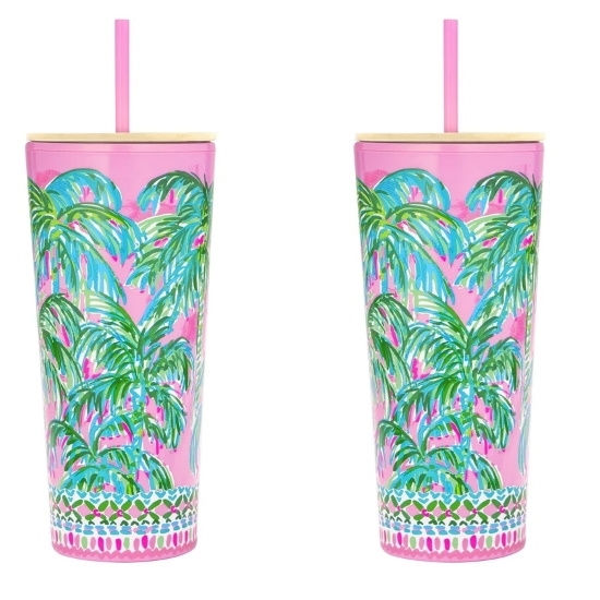 Picture of Lilly Pulitzer Set of 2 Tumblers with Straw - Suite Views