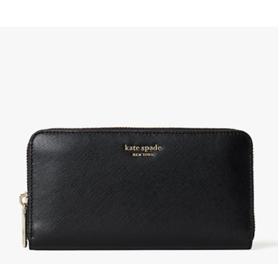 Picture of Kate Spade Spencer Zip Around Continental Wallet - Black