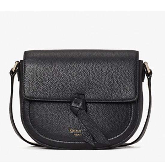 Picture of Kate Spade Knott Medium Saddle Bag - Black