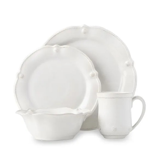 Picture of Juliska Berry & Thread Whitewash Flared 16-Piece Place Setting