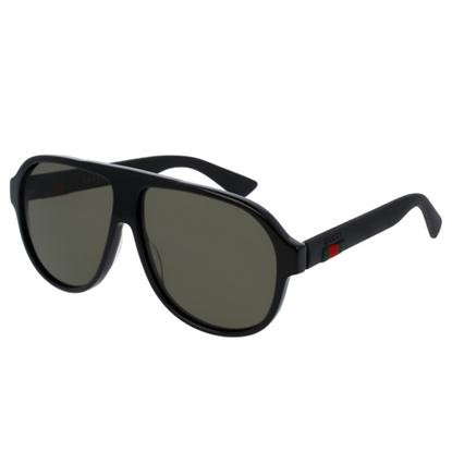 Picture of Gucci Men's Acetate Aviator Sunglasses - Black