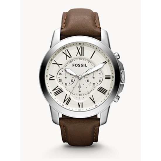 Picture of Fossil Grant Chronograph Brown Leather Watch