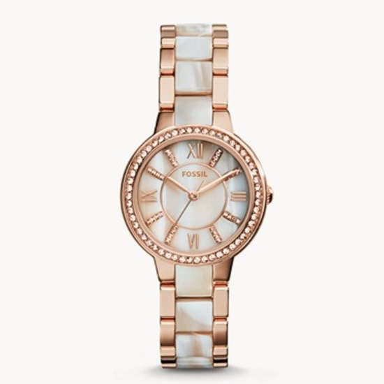 Picture of Fossil Virginia Rose-Tone & Horn Acetate Watch