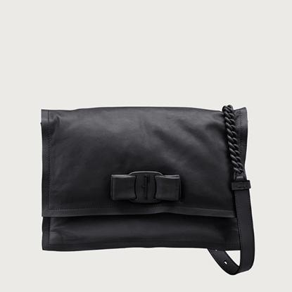 Picture of Salvatore Ferragamo Ladies' Small Viva Bow Bag - Black
