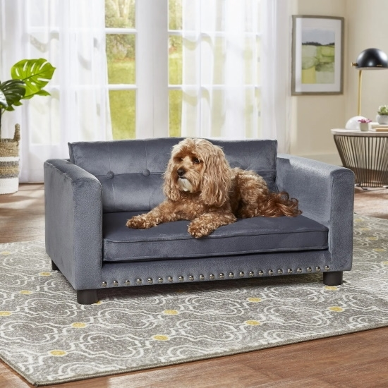 Picture of Enchanted Home Pet Casey Pet Sofa - Grey