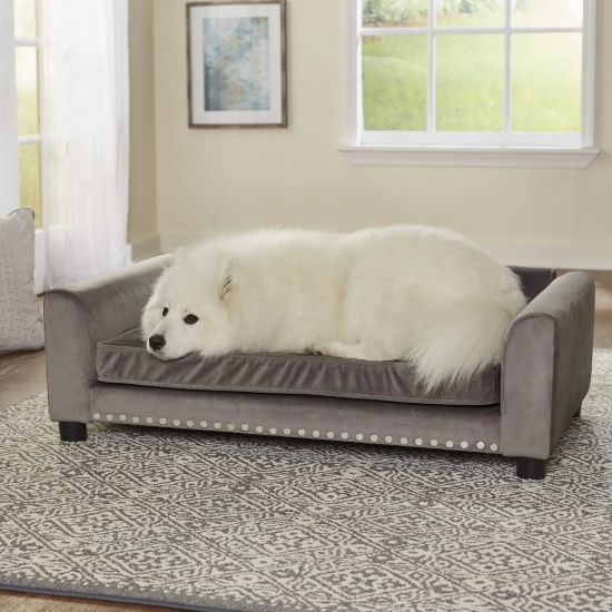 Picture of Enchanted Home Pet Luna Pet Sofa - Grey