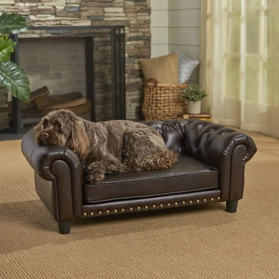 Picture of Enchanted Home Pet Windsor Pet Sofa - Brown