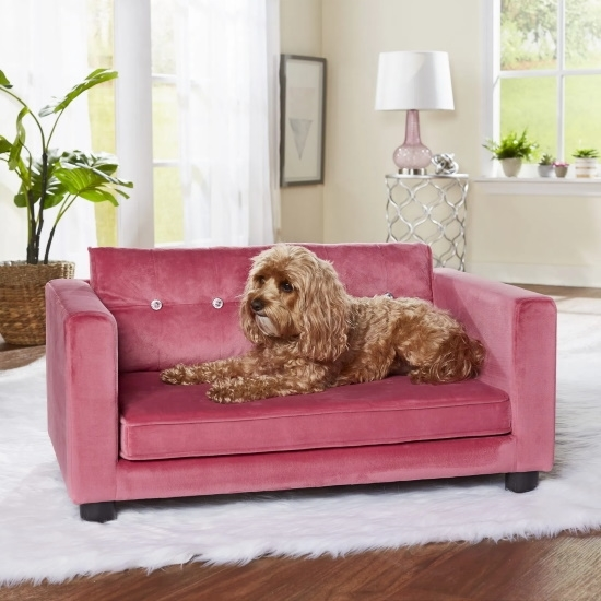 Picture of Enchanted Home Pet Crystal Pet Sofa - Rose