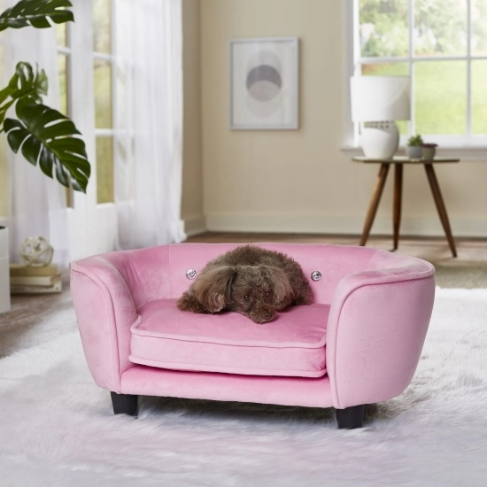 Picture of Enchanted Home Pet Serena Pet Sofa - Pink
