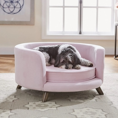 Picture of Enchanted Home Pet Rosie Pet Sofa - Blush Pink