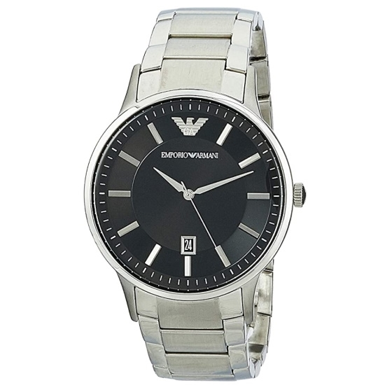 Picture of Emporio Armani Three-Hand Date Stainless Steel Watch