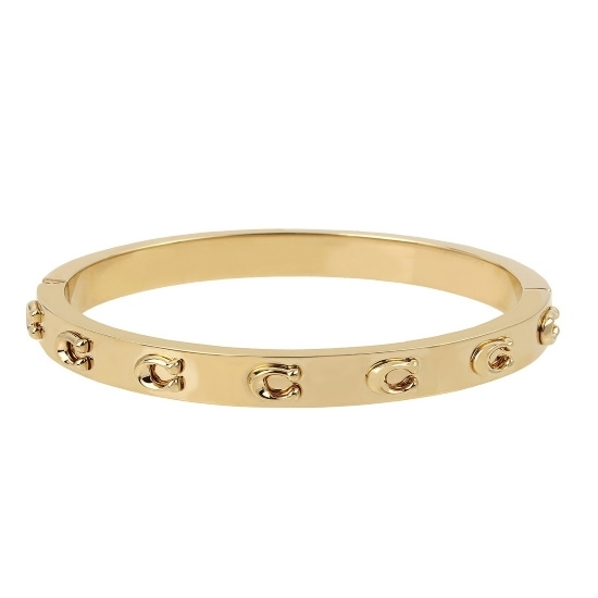 Picture of Coach C Logo Hinged Bangle - Gold