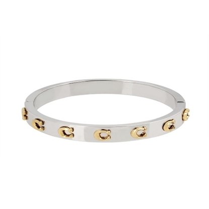 Picture of Coach C Logo Hinged Bangle - Two-Tone