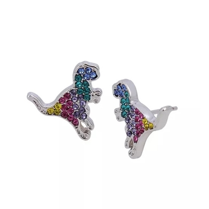 Picture of Coach Multi Color Rex Stud Earrings - Rhodium