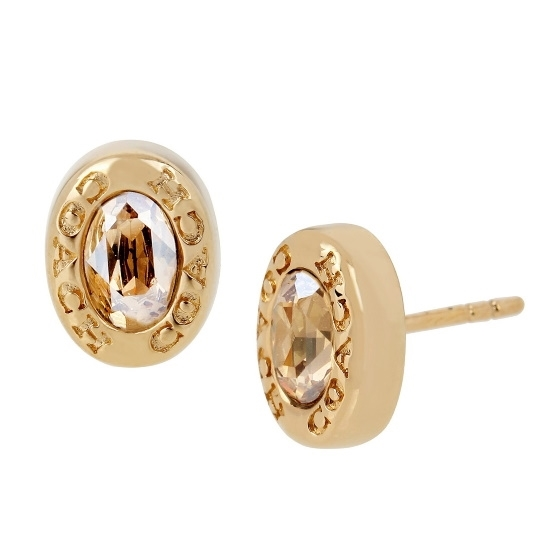 Picture of Coach Signature Logo Stud Earrings - Gold