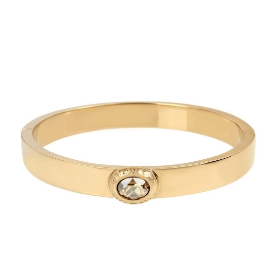 Picture of Coach Signature Logo Hinged Bangle - Gold