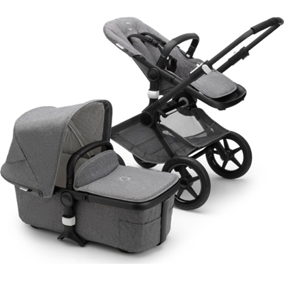 Picture of Bugaboo Fox2 Classic Complete - Black/Grey Melange