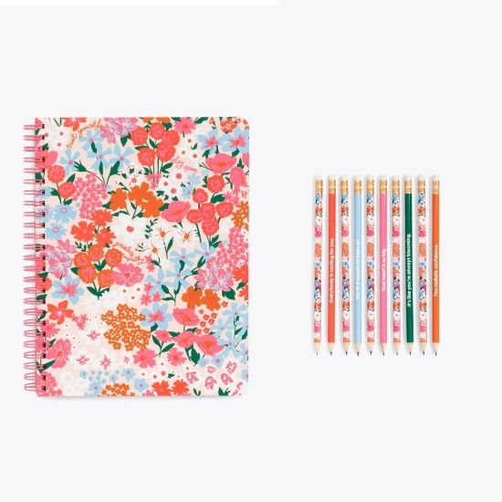 Picture of Ban.do Rough Draft Mini Notebook w/ Pencil Set - Secret Garden