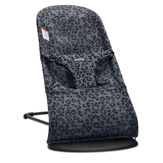 Picture of BabyBjorn Bouncer Bliss 3D Mesh - Anthracite Leopard