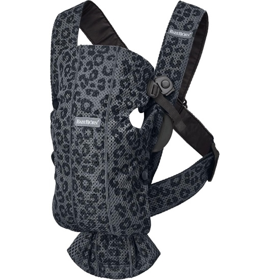 Picture of BabyBjorn Carrier Mini 3D Mesh - Anthracite Leopard