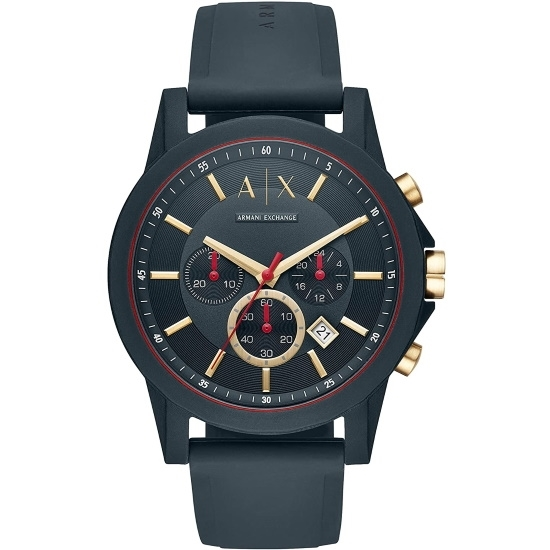 Picture of Armani Exchange Blue Silicone Chronograph Watch