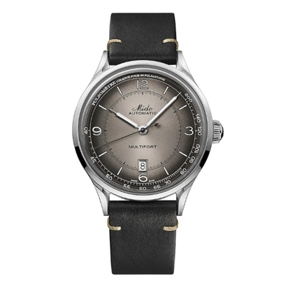 Picture of Mido Patrimony Watch w/ Black Leather Strap & Anthracite Dial