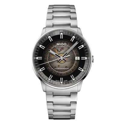 Picture of Mido Commander Gradient Stainless Steel Watch with Black Dial