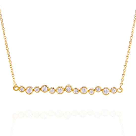 Picture of Lali 14K Yellow Gold Diamond Row Necklace